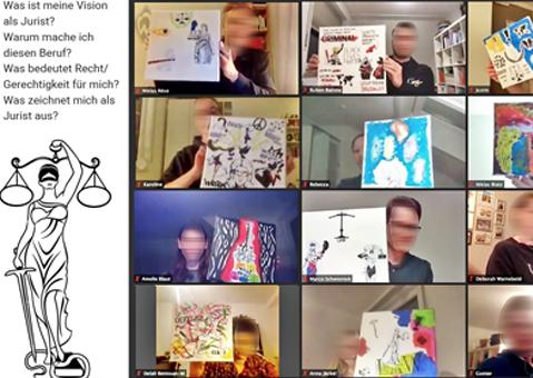 virtuelle Teamevents, remoteTeams, Online Teampainting